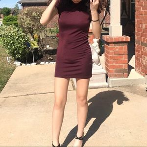 Short Burgundy Dress
